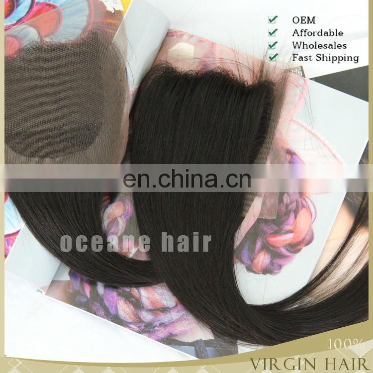 "18"" 5*5 wholesale cheap virgin brazilian hair top lace front closure hair"