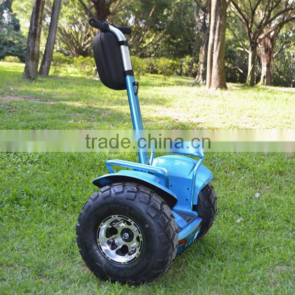 Intelligent two wheeled self balancing off road leadway speeder scooter
