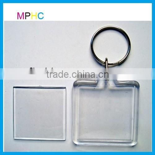 Cheap Promotional Clear T-shirt Shape Transparent Blank Acrylic Photo Keychain