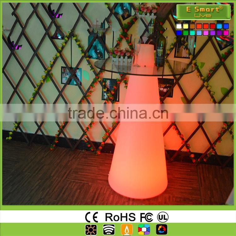 Modern 16 Colors Night Club Lighting Illuminated Led Table,Light Up Cocktail Table,White Led Pub Table,Led Highboy Tables