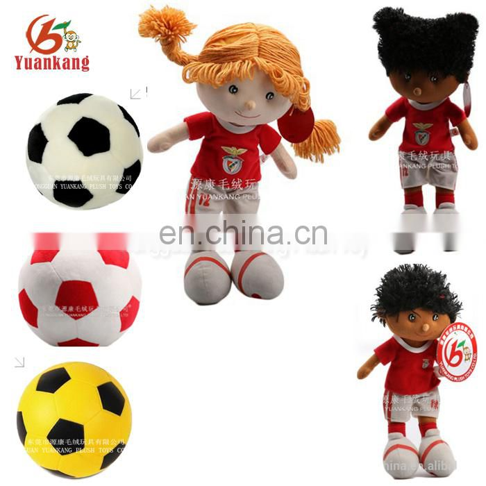 plush football stuffed toy with logo printed sports toy