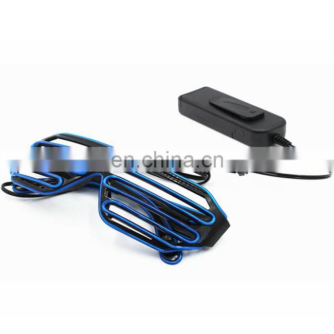 el wire glasses light up party favor led shutter el glasses