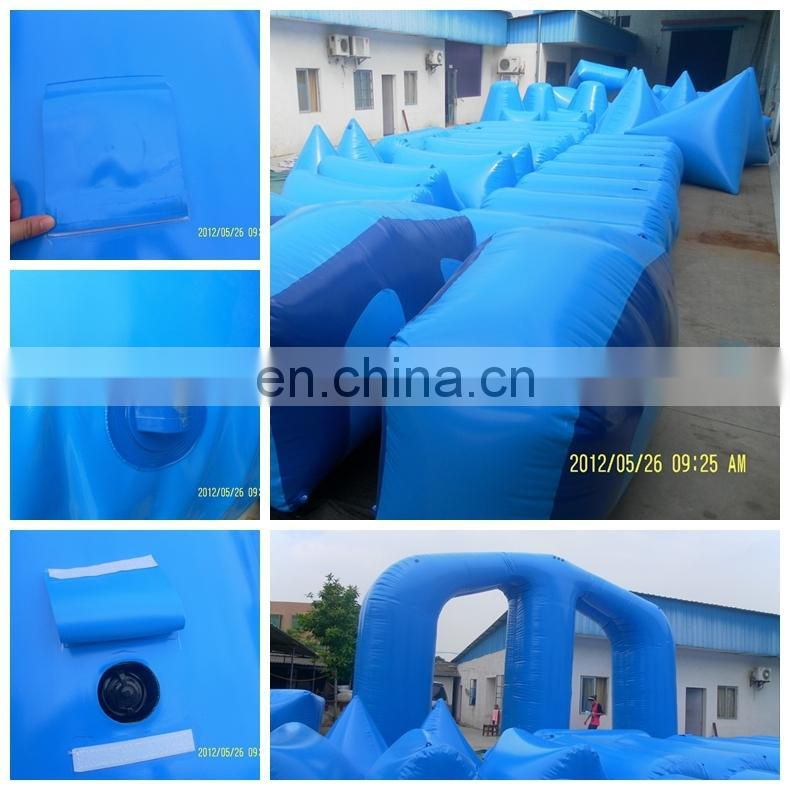 Interactive inflatable paintball bunker team work building shooting game