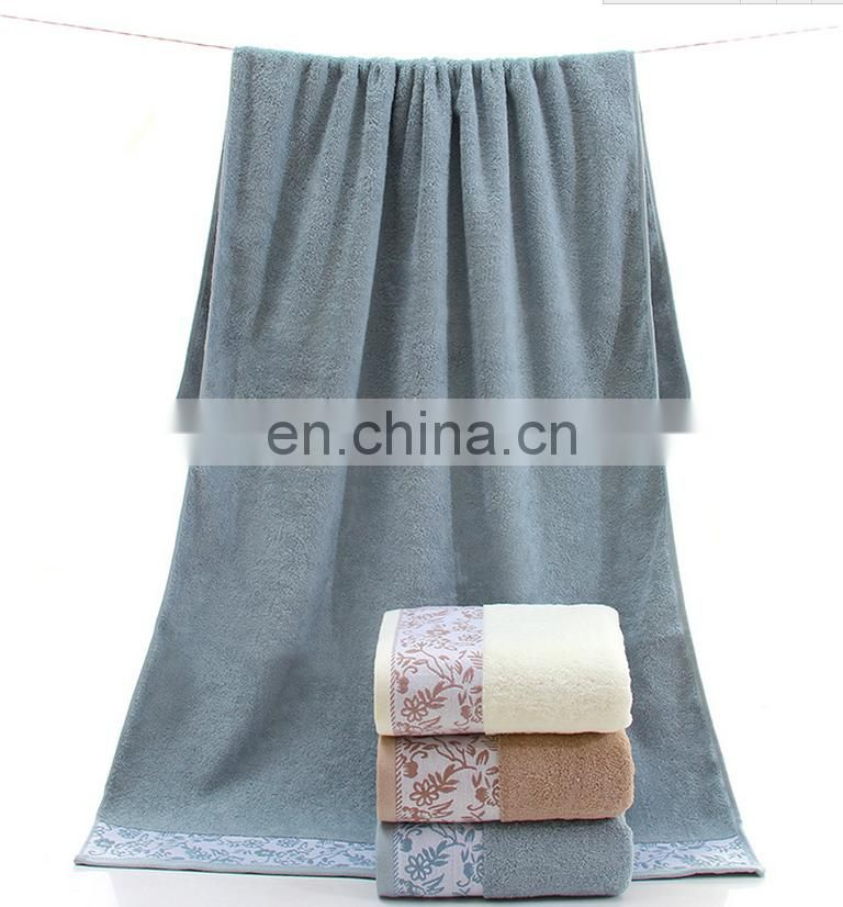 wholesale luxury jaquard 100% cotton luxury bath towel