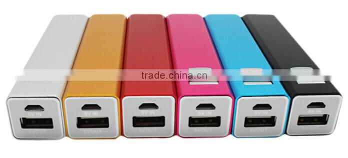 2015 Best Selling Items Aluminum Wholesale Fast Charging 2200mah Power Bank