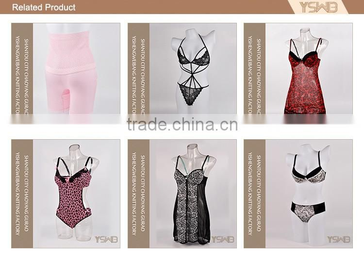 Factory custom made thin sexy hot fashion show lingerie