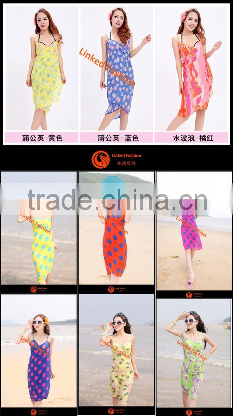 Women Fashion Sarong Sexy Wrap Pareo Summer Swimwear Bikini Cover Up Beach Dress printed scarves pareo sarongs