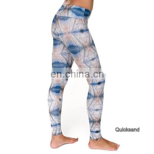 custom made sublimation printed womens sports fitness leggings