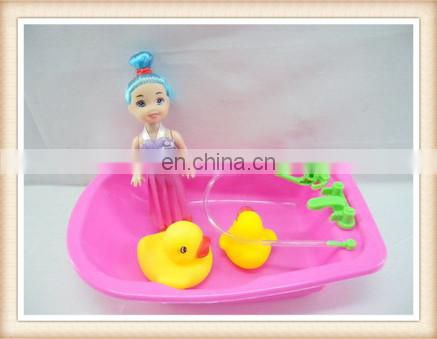 plastic toy bathtub, mini bathing baby doll toy