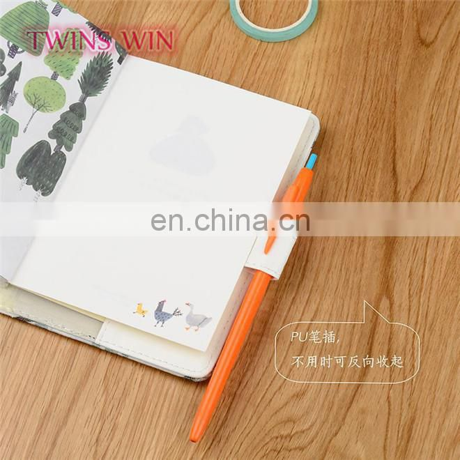 China market Factory direct wholesale 2018 newest creative stationery cheap fancy cactus design kraft plain paper notebooks