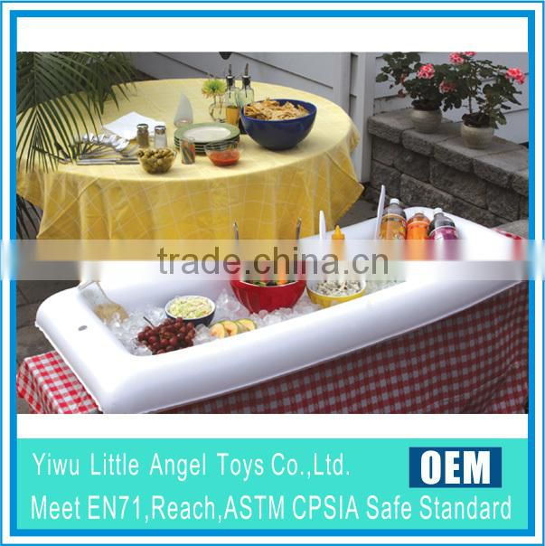 PVC inflatable table cooler inflatable buffet cooler