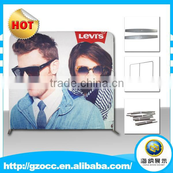 Customer design customized tension fabric exhibition trade show pop up banner display for advertising