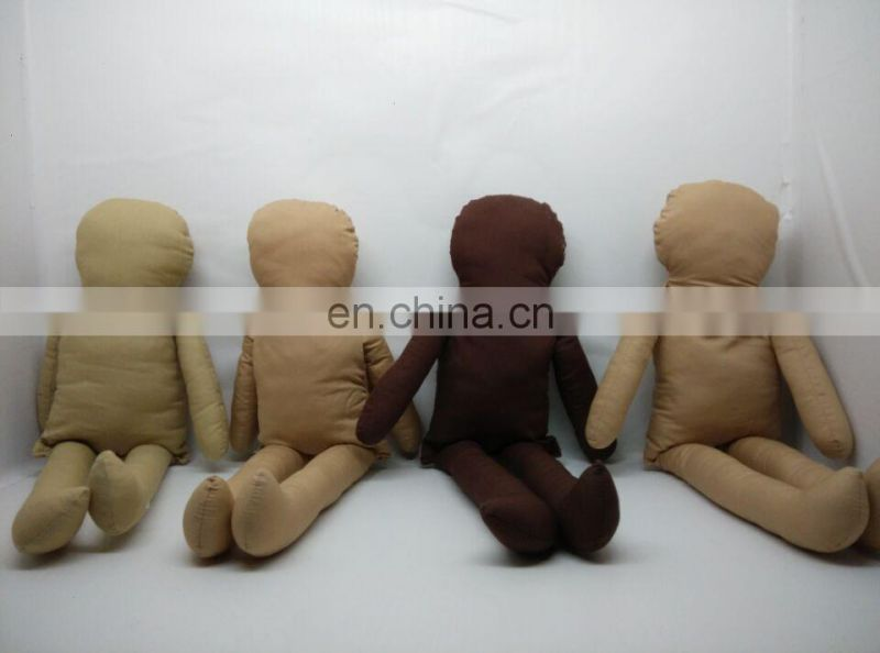 custom high quality 100% organic cotton fabric bamboo fiber rag doll OEM