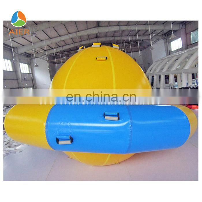 Double lane 4 person inflatable seesaw,inflatable banana boat