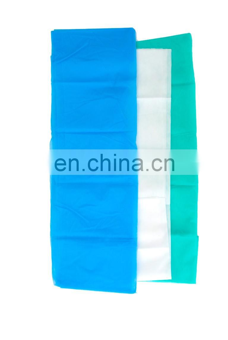 Cheap hotel disposable colored PP nonwoven hotel bedsheet