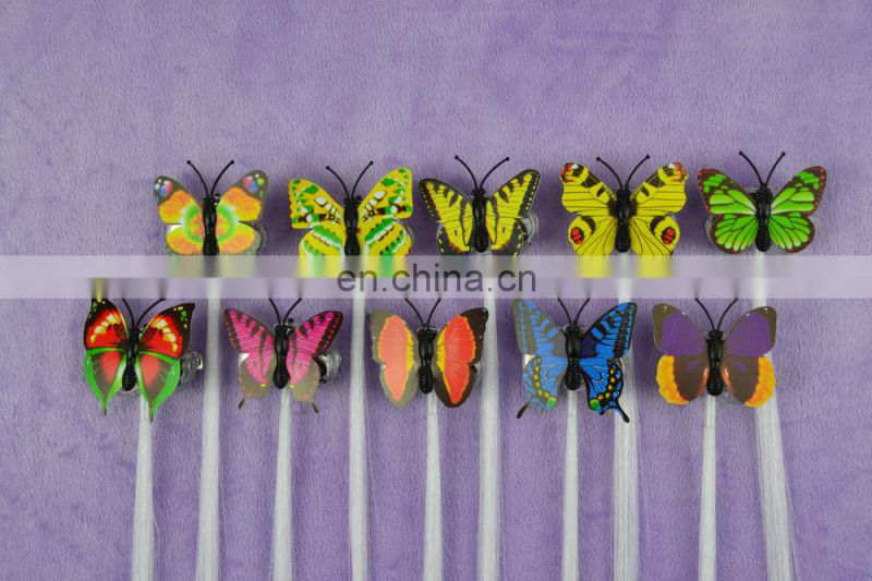 Hot sale butterfly Multicolors LED Flashing braid LED Hair Braid/flashing Braid for New Years Eve Party
