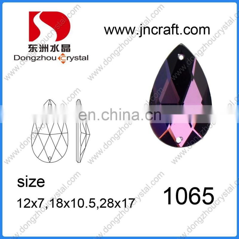 DZ-1011 Round Glass Stones Flat Back For Jewelry Making