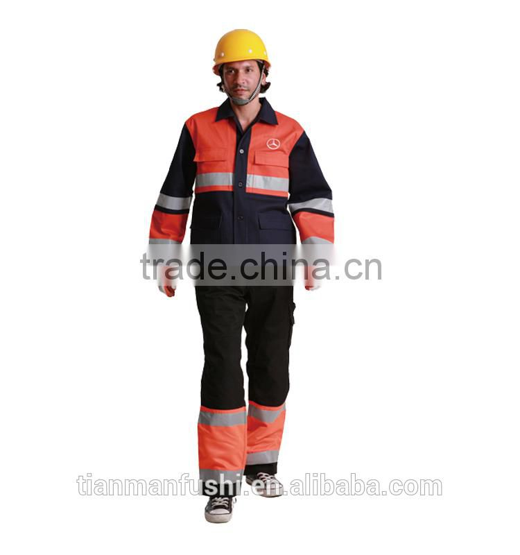 2015 Reflective Firemen Workwears Quality Customed Hard Wearing Safety Workwear Suits