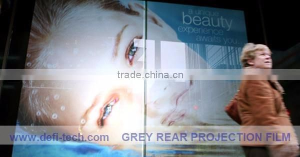Transparent color Rear projection foil/film for Glass window,Perfect advertisement medium
