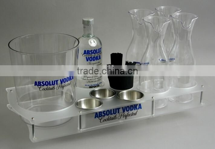 Wholesale Cheap price acrylic shot glass holder tray