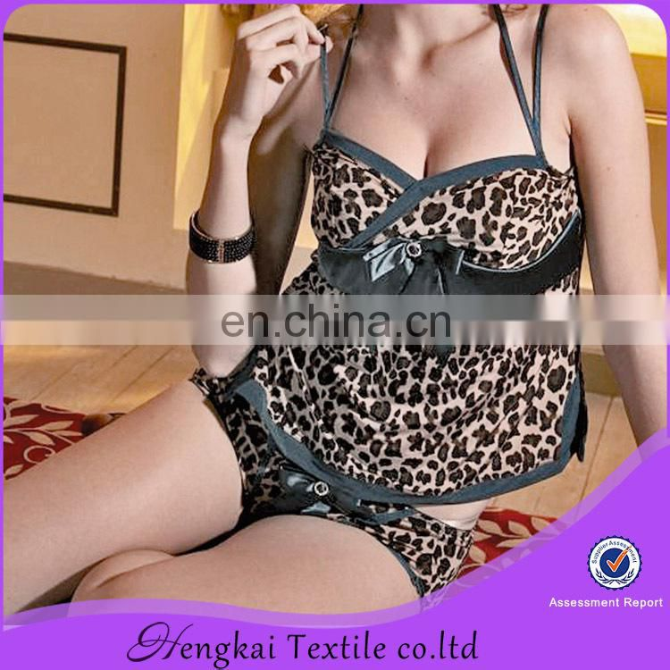 Sexy lingerie leopard printsexy buster lingerie slip dress
