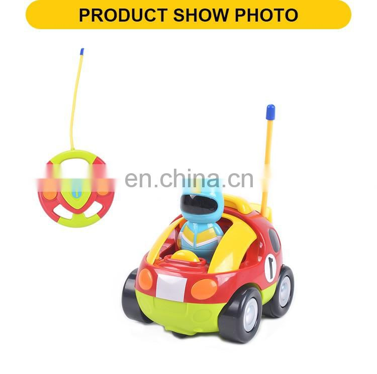 Hot selling 12cm 2channel plastic remote control racing cartoon toys with light&music
