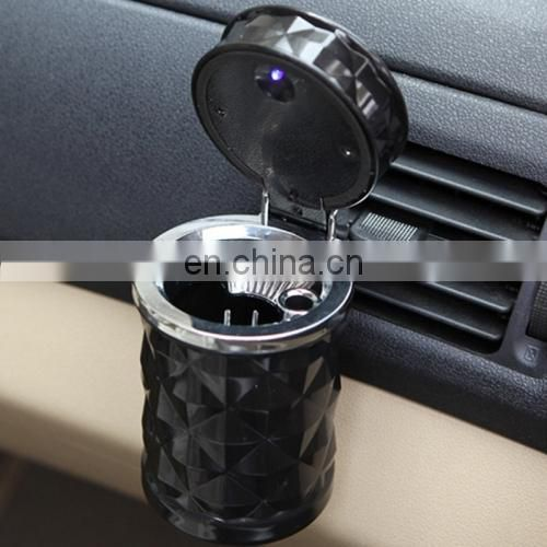 Diamond Facets Car Ashtray with LED Light