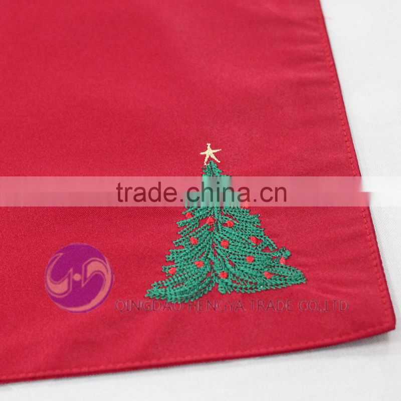 embroidery christmas tree felt table placemat