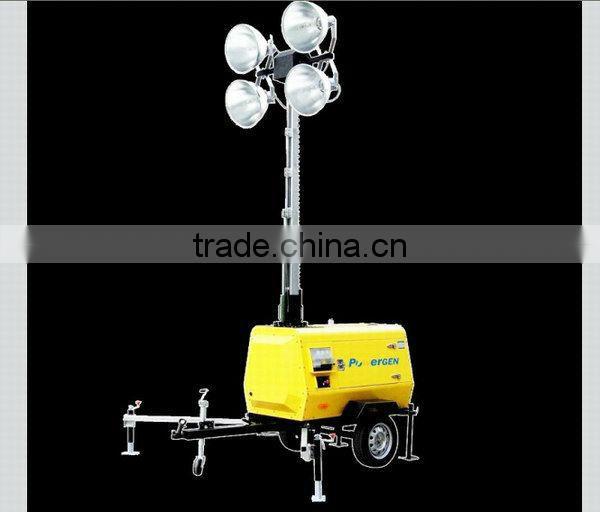 Hot Sale!!! POWER-GEN Reliable 4 Lamps 9m mast Diesel Engine