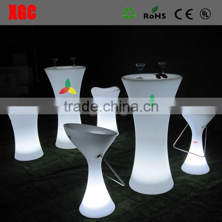 Glowing white color Cocktail Table for birthday party