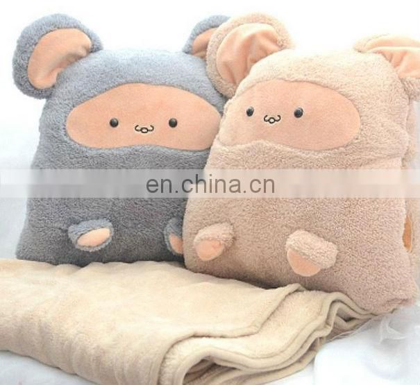 Blanket and cushion set wholesale/printed blanket