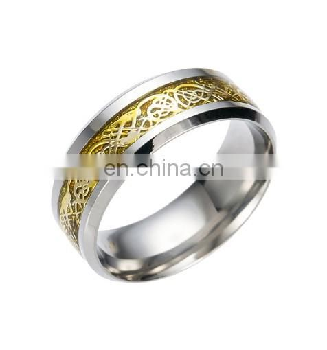 2017 hot sales Accessories wholesale of Titanium steel ring fashion Decorative pattern ring Suitable for daily life