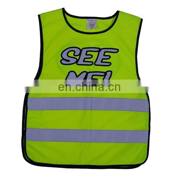 Reflective Kids safety vest for children CE EN1150 approval