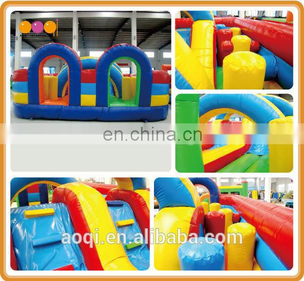 AOQI rainbow funcity /inflatable amusement park fun city with free EN14960