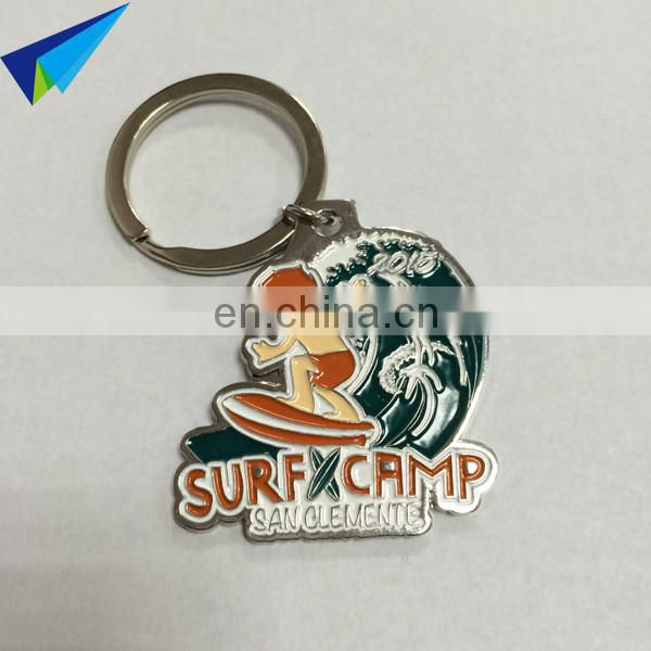 Popular style custom logo metal keychain no minimum order