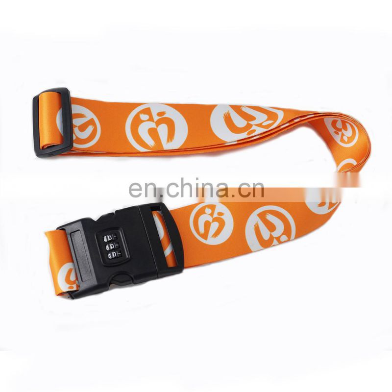 Factory custom luggage belt/luggage strap with metal buckle for promotion