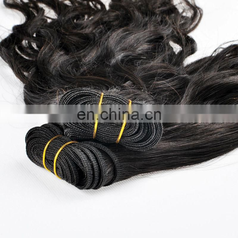 2017 Haiyi Fast Shipping Good Feedback 100 Unprocessed 8A Grade Weavy/Natural Wave Virgin Indian Human Hair