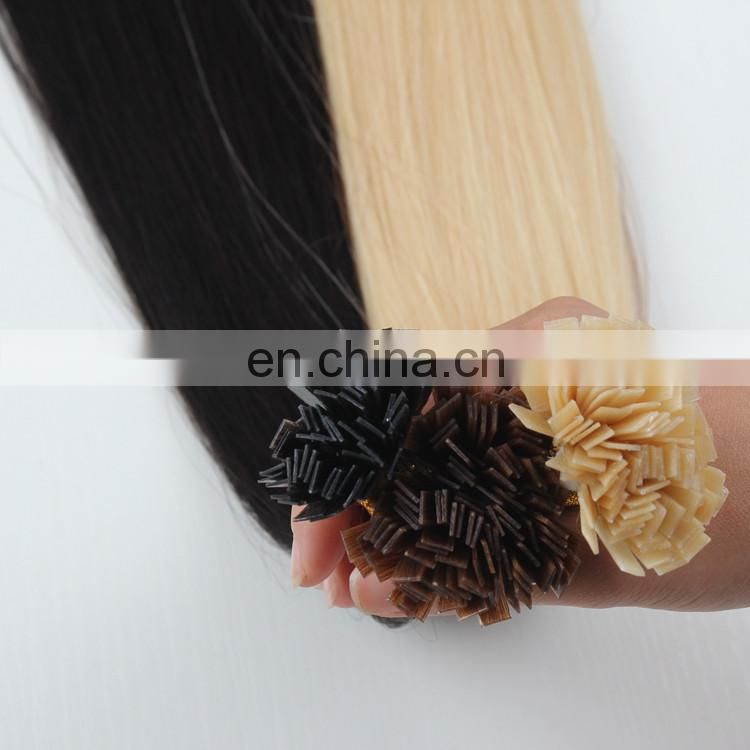 613 White Blonde Pre-Bonded flat tip hair extensions