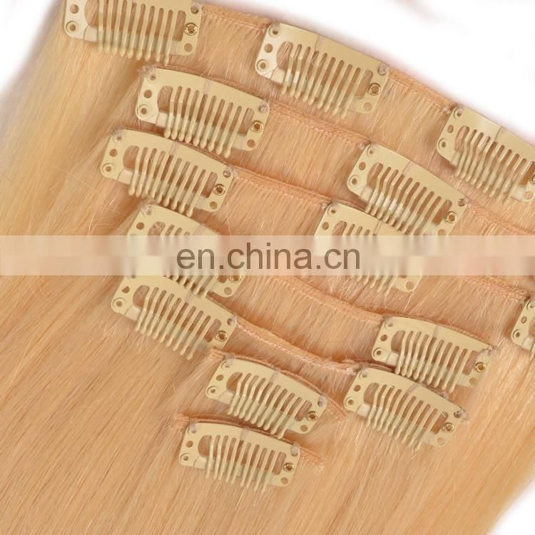 blonde color hair extensions clip in
