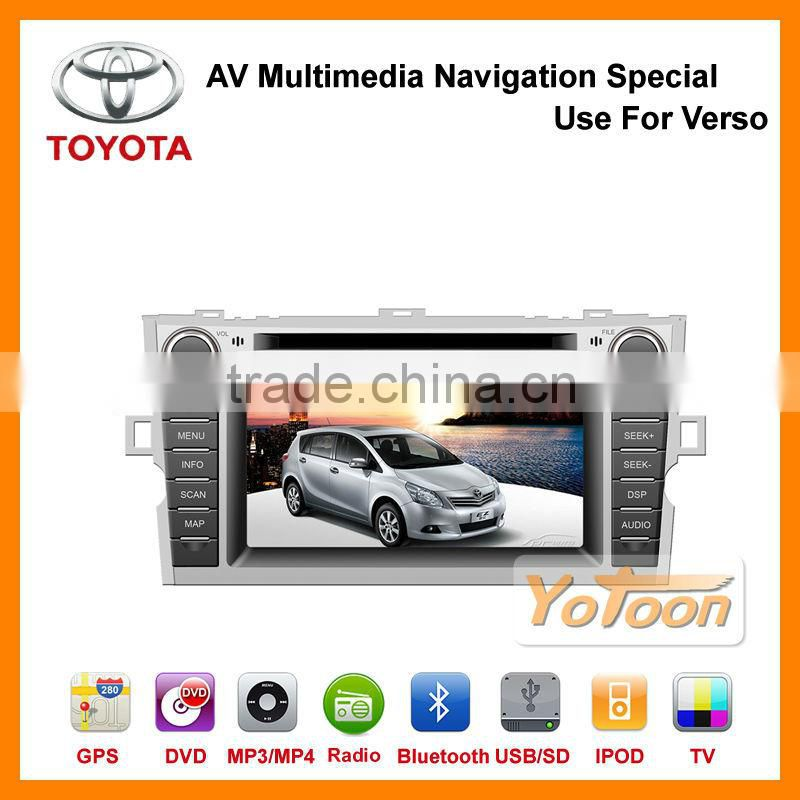 New 7 inch 2 Din Car DVD Player with Digital Touch Screen / High Definition For Toyota Verso GPS IPOD TV RDS Bluetooth