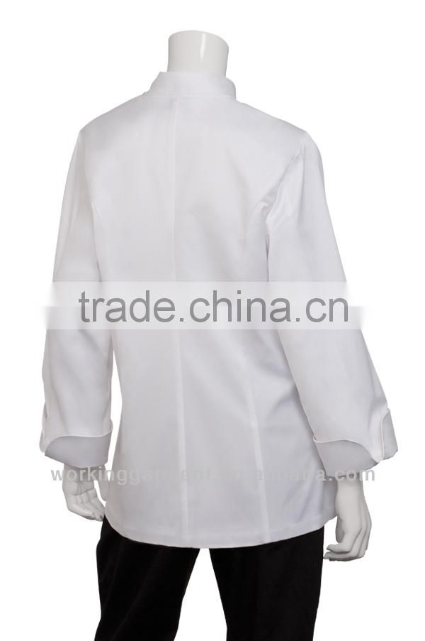Women's Basic White Chef Coat,100% Cotton
