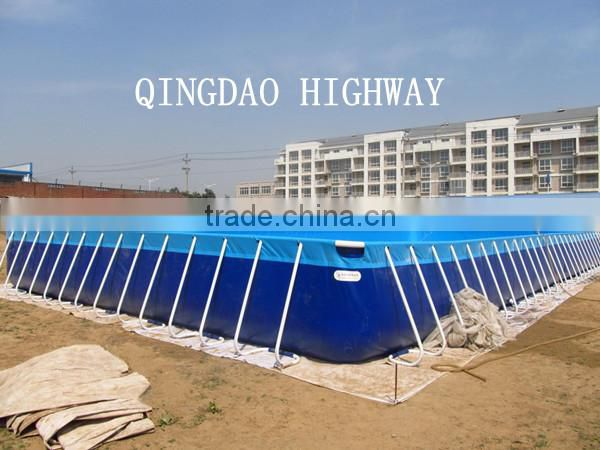 Giant PVC Tarpaulin Steel Frame Swimming Pool for adult and children ...