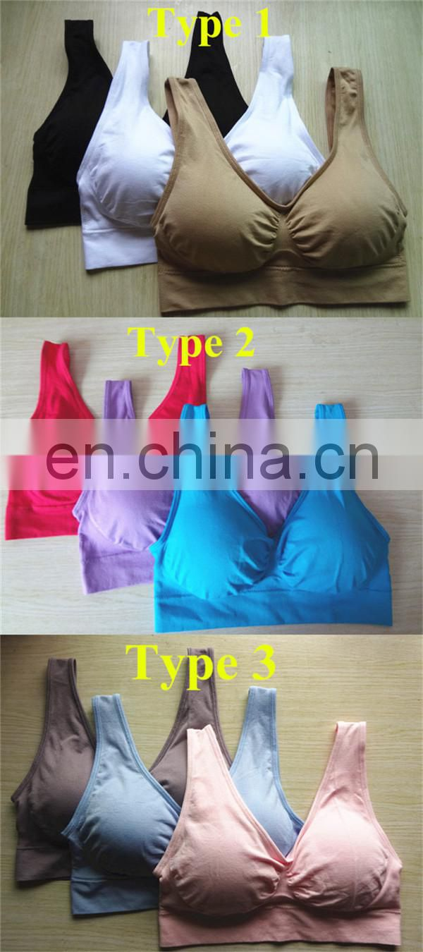 Contemporary As Seen On Tv Best Selling Very Hot Seamless Genie Bra Removable Pads 3 Pcs Summer