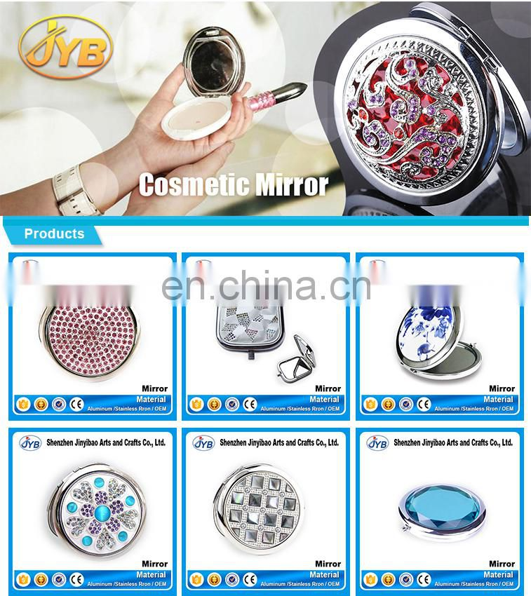 cheap price sale fashion acrylic diamond cover cosmetic mirrors rhinestone cover cosmetic mirror