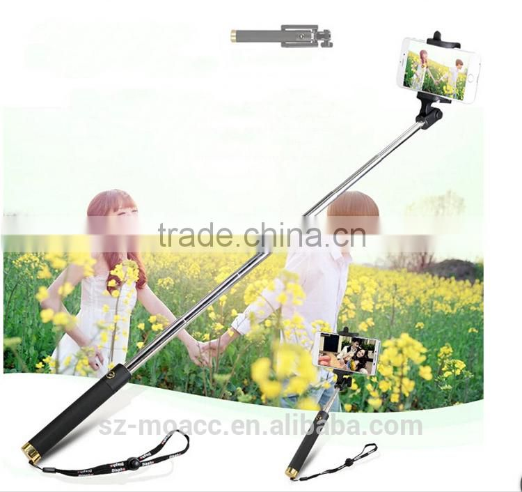 New Arrival integrated selfie stick with bluetooth foldable all in one selfie stick for xiaomi redmi smartphone