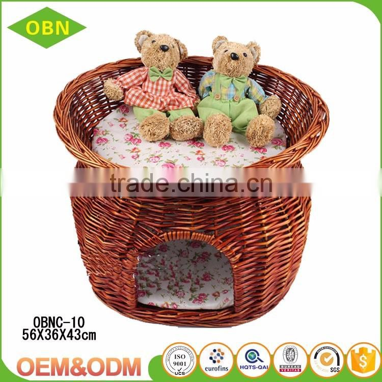China supplier wholesale handmade popular comfortable small wicker rattan indoor dog cat house