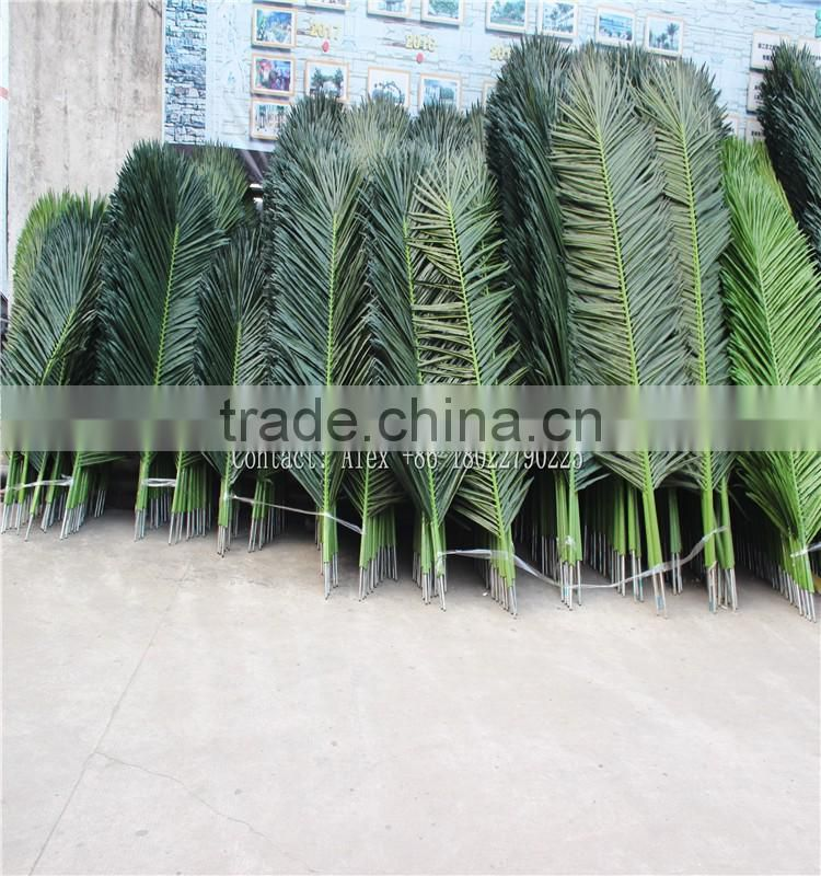 SJ0032142 fake coconut palm leaves roof cheap artificial palm tree leaves and branches