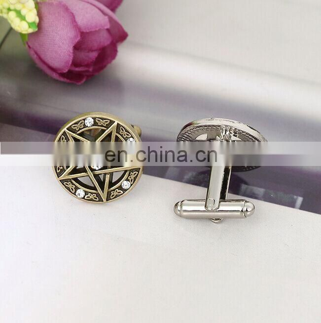 Same European film fashion accessories of French shirt sleeve of the pentagram cufflink in alibaba