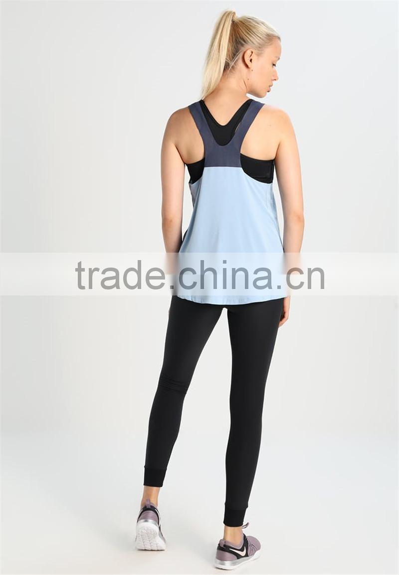 7c7001b2c079a ... MGOO Hot Sale Racer Back Sport Wear Gym Wear Ladies Singlet Blank Drop  Armhole Dri Fit