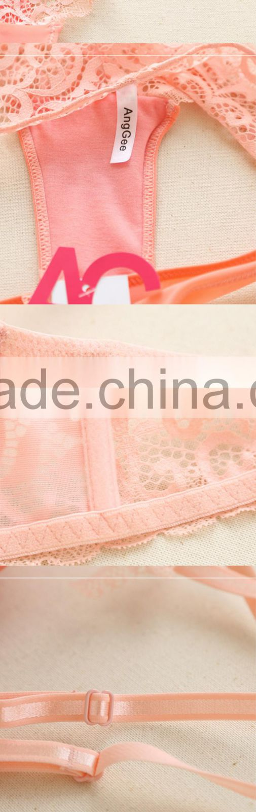 b2f107785d ... HSZ-5001 Wholesale High Quality Women Underwear Pink Sexy Fancy Bra  Panty Set for Women ...